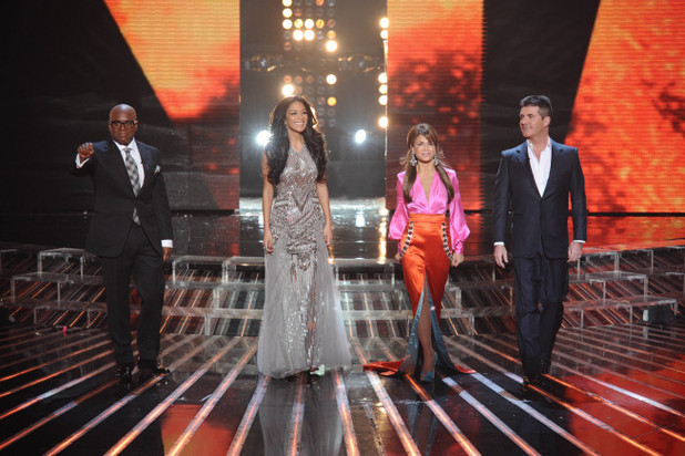 The judges arrive for the 'X Factor' finale