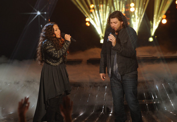 Melanie Amaro and Josh Krajcik duet on The X Factor USA finale