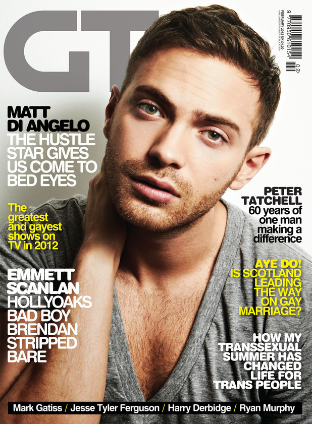Matt Di Angelo in Gay Times magazine