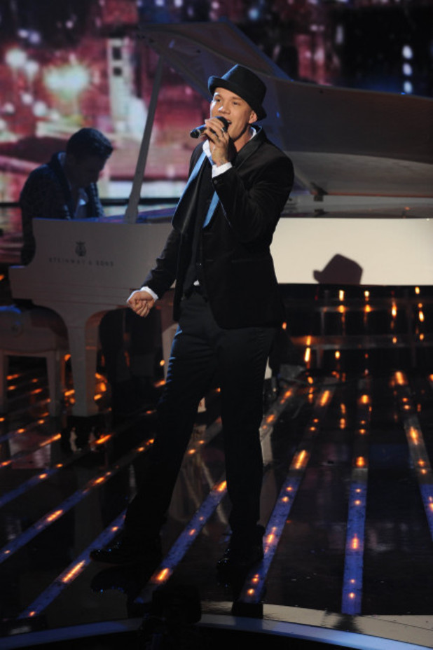 Chris Rene performs on The X Factor