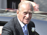 The Duke of Edinburgh arrives for the wedding between Zara Phillips and Mike Tindall