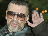 George Michael makes a statement to the media outside his home in Highgate, north London
