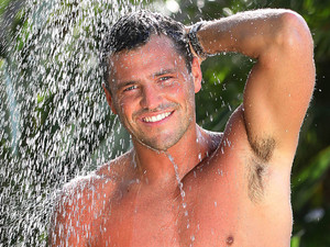 Mark Wright in the shower (I&#39;m a Celebrity)