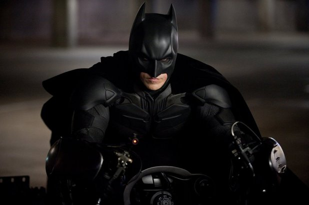 The Dark Knight Rises picture gallery: Christian Bale's Batman mounts the Bat-pod.