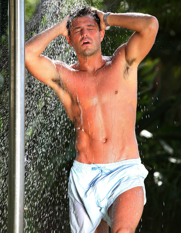 Mark Wright in the shower (I'm a Celebrity)