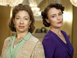 Upstairs Downstairs: Dr Blanche Mottershead (Alex Kingston) and Lady Agnes (Keeley Hawes)