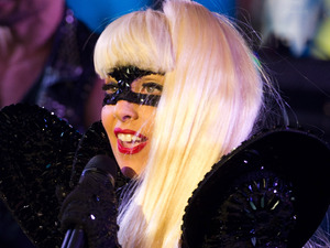 Lady Gaga performs in Times Square during the New Year's Eve celebration