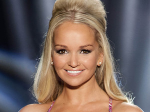 Actress Jennifer Ellison who is skating with partner Dan Whiston