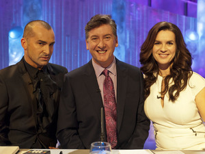 The new judges: Louie Spence, Robin Cousins and Katarina Witt