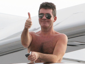 Simon Cowell relaxing aboard luxury super yacht, MY Slipstream St Barts