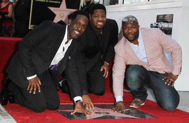 Shawn Stockman, Nathan Morris, and Wanys Morris The Group 'Boyz II Men' are honored with the year's first star on the Hollywood Walk of Fame Los Angeles, California