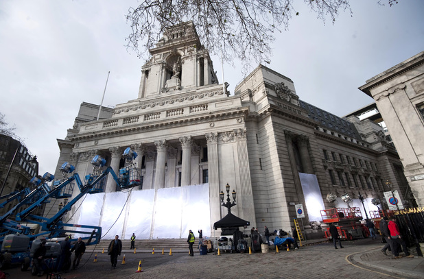 London's 10 Trinity Square ready for filming