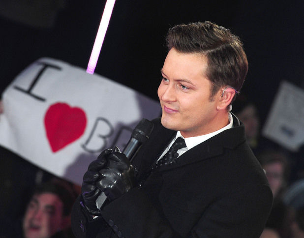 Brian Dowling hosting the Celebrity Big Brother 2012 launch