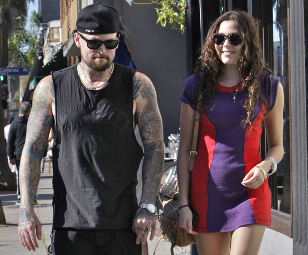 Benji Madden and girlfriend Eliza Doolittle heading to lunch at Gjelina Restaurant in Venice Los Angeles