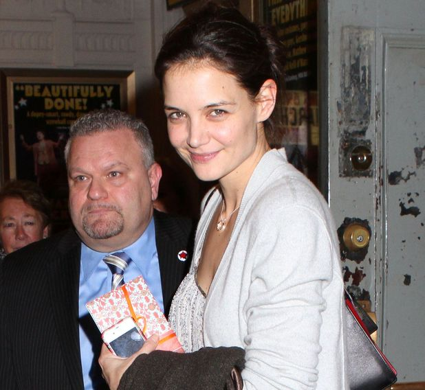 Katie Holmes at the Music Box Theatre, New York after performing in Dead Accounts on Broadway on her birthday