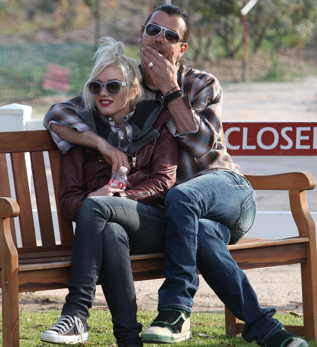 Gwen Stefani and husband Gavin Rossdale visiting Underwood Family Farms on New Year's Eve Los Angeles