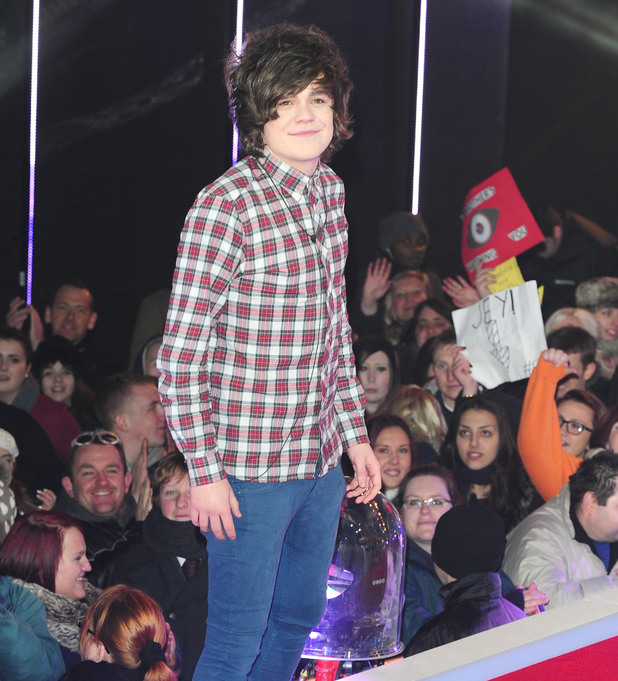 Frankie Cocozza is the fifth celebrity to enter the Big Brother House