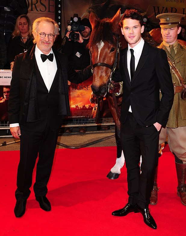 Steven Spielberg and Jeremy Irvine