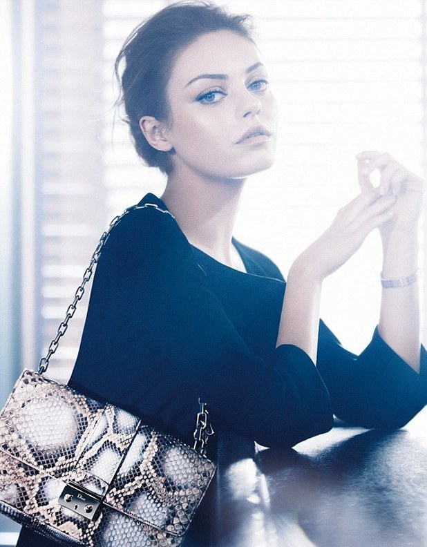 Mila Kunis in her new Dior campaign