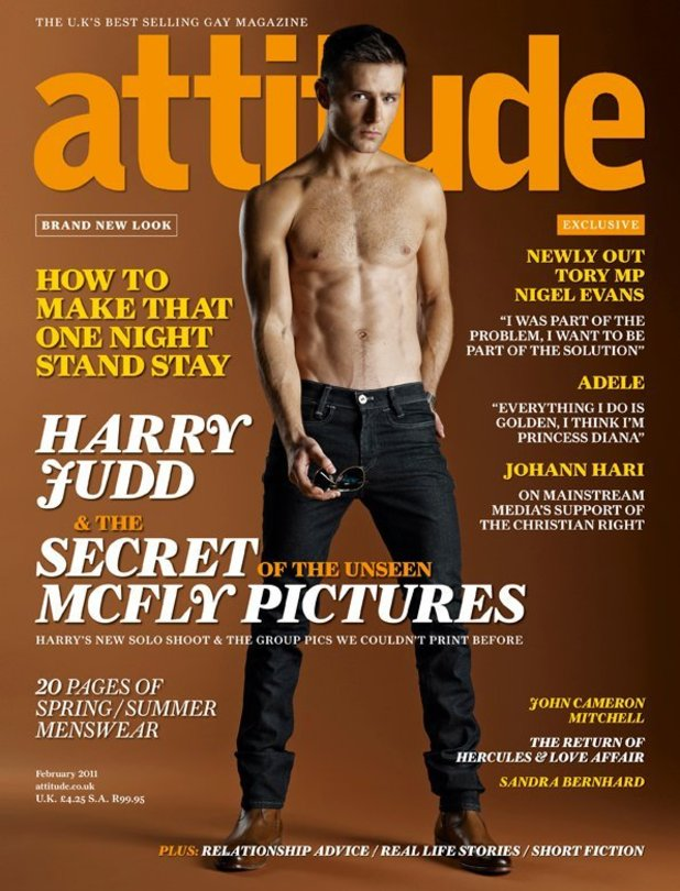 Harry Judd on Attitude Cover