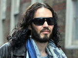 Russell Brand out and about in Central London