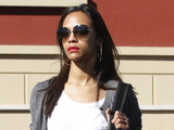 Zoe Saldana leaving the Grocery Store in Silverlake Los Angeles