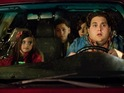 Jonah Hill squirms in his seat in this ill-judged babysitting comedy.
