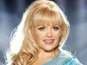 The Dallas actress is eliminated in Dancing on Ice's 'pop' week.