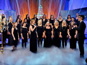British Single: Gareth Malone conducts the Military Wives choir, during filming of The Graham Norton Show