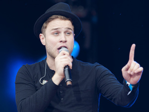 British Single: Olly Murs performs at the Sainsbury's super Saturday on Clapham Common in London