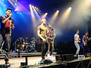British Single: The Wanted performing on The Arena stage, during the V Festival at Hylands Park in Chelmsford