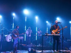 International Male Solo Artist: Bon Iver in concert at Hammersmith Apollo, London