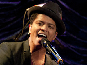 International Male Solo Artist: Bruno Mars performs an intimate gig to a group of Heart listeners during the Heart&#128;&#153;s Artist of the Year event at Under the Bridge Stamford Bridge
