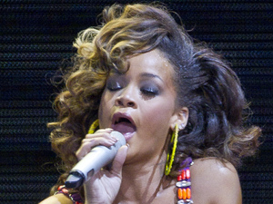 International Female Solo Artist: Rihanna performs at the o2 arena in east London