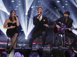 International Group: Lady Antebellum performs at the CMT Artists of the Year television taping