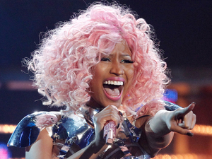 International Breakthrough Act: Nicki Minaj performs at the 39th Annual American Music Awards