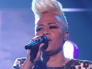 Critics' Choice: Emeli Sande performing with Professer Green on 'The X Factor'