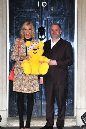 Chris Moyles and Fearne Cotton Children In Need - drinks reception held at 10 Downing Street - Arrivals. London