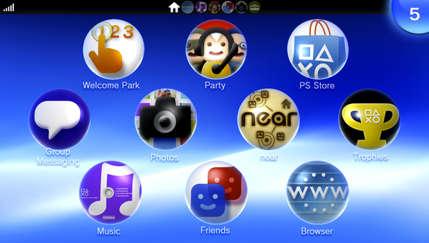 PlayStation Vita menu