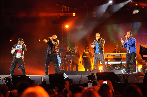 British Single: JLS performing at the Michael Forever Michael Jackson tribute concert