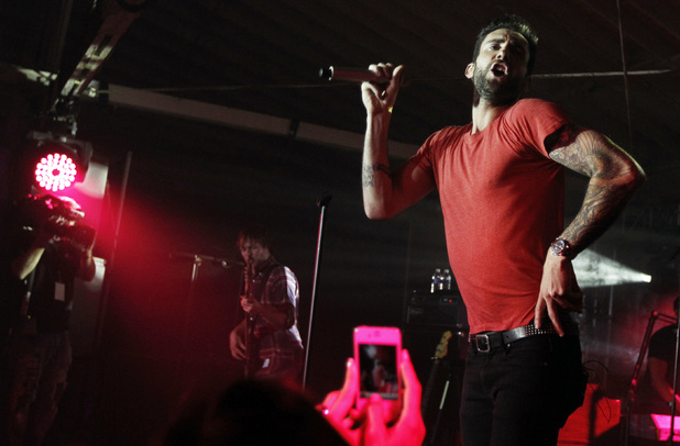 International Group: Maroon 5 perform at the Google and T-Mobile party celebrating the launch of Google Music