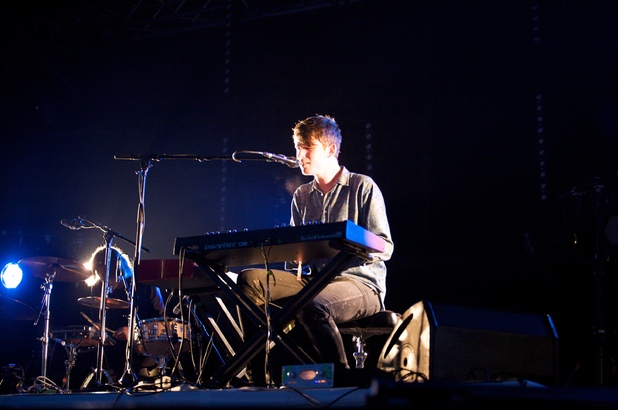 British Male Solo Artist Nominees: James Blake performing live at the Park during the Glastonbury Music Festival