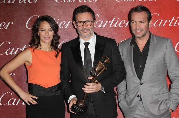 Berenice Bejo, Michel Hazanavicius and Jean Dujardin