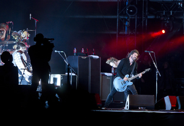 International Group:  Foo Fighters perform at the Isle of Wight music festival