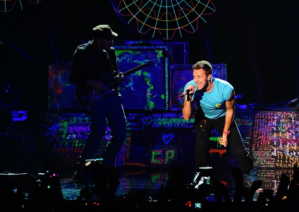 British Group: Coldplay perform during the 2011 MTV Europe Music Awards at the Odyssey Arena, Belfast