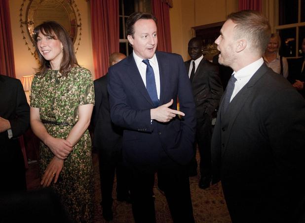 Gary Barlow, David Cameron, Samantha Cameron