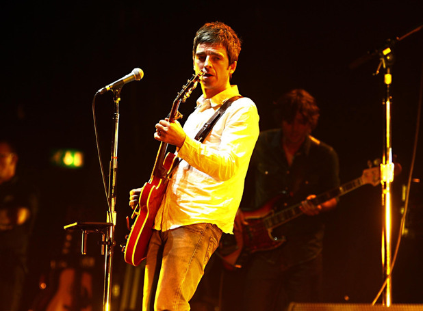 British Male Solo Artist Nominees: Noel Gallagher's band the High Flying Birds perform at the Hammersmith Apollo