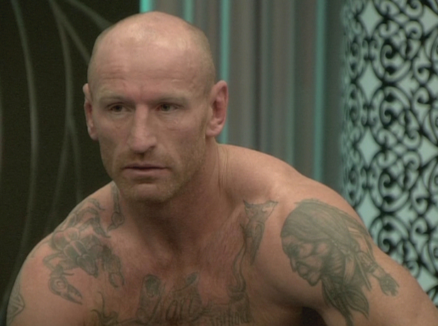 Celebrity Big Brother 9 - Day 2 Gareth Thomas wakes up. Shown on Channel 5 HD