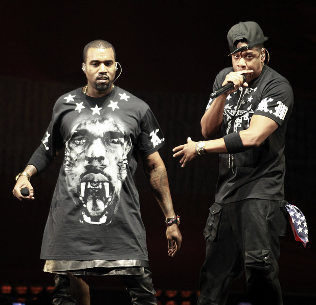 International Group:  Kanye West, left, and Jay Z perform in concert during the &quot;Watch The Throne&quot; tour