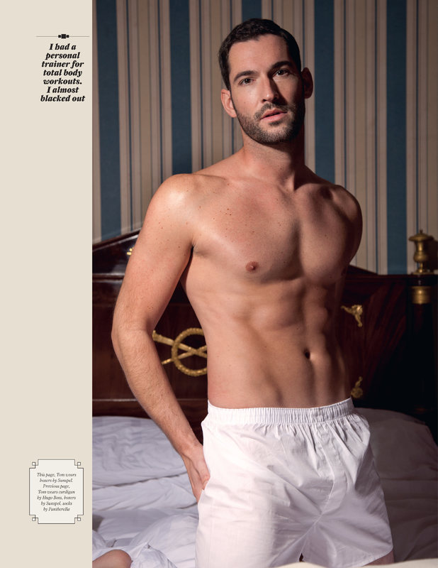 Tom Ellis posing for Attitude magazine February 2012